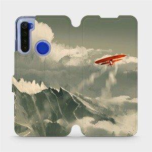 Flipové pouzdro Mobiwear na mobil Xiaomi Redmi Note 8T - MA03P Oranžové letadlo v horách
