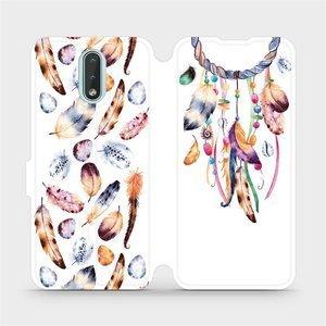 Flipové pouzdro Mobiwear na mobil Nokia 2.3 - M003S Lapač a barevná pírka