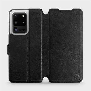 Flipové pouzdro Mobiwear na mobil Samsung Galaxy S20 Ultra v provedení C_BLS Black&Gray s šedým vnitřkem