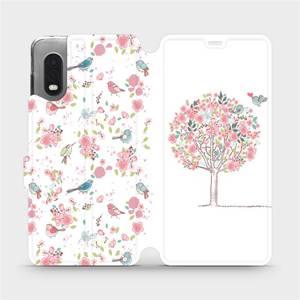 Flipové pouzdro Mobiwear na mobil Samsung Xcover PRO - M120S Strom a ptáčci