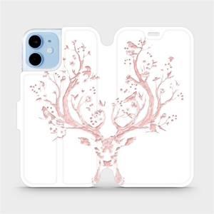 Flipové pouzdro Mobiwear na mobil Apple iPhone 12 mini - M007S Růžový jelínek