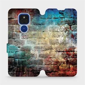 Flipové pouzdro Mobiwear na mobil Motorola Moto E7 Plus - V061P Zeď
