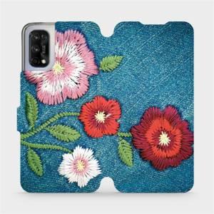 Flipové pouzdro Mobiwear na mobil Realme 7 5G - MD05P Džínové květy
