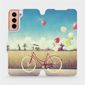 Flipové pouzdro Mobiwear na mobil Samsung Galaxy S21 5G - M133P Kolo a balónky