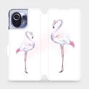Flipové pouzdro Mobiwear na mobil Xiaomi Mi 11 - M005S Plameňáci
