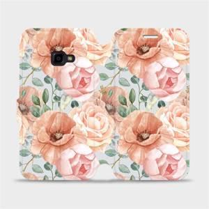Flip pouzdro Mobiwear na mobil Samsung Galaxy Xcover 4 - MP02S Pastelové květy