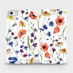 Flip pouzdro Mobiwear na mobil Apple iPhone SE / iPhone 5 / iPhone 5S - MP04S Luční kvítí