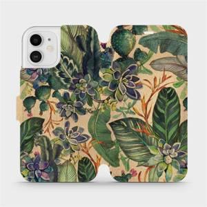 Flip pouzdro Mobiwear na mobil Apple iPhone 12 - VP05S Sukulenty