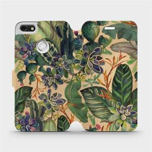 Flip pouzdro Mobiwear na mobil Huawei P9 Lite mini - VP05S Sukulenty