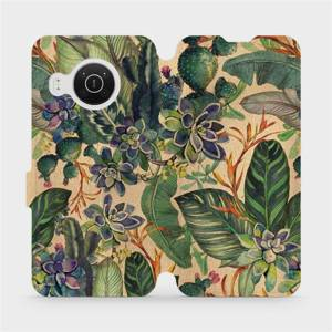 Flip pouzdro Mobiwear na mobil Nokia X10 - VP05S Sukulenty