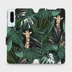Flip pouzdro Mobiwear na mobil Huawei P30 - VP06P Žirafky