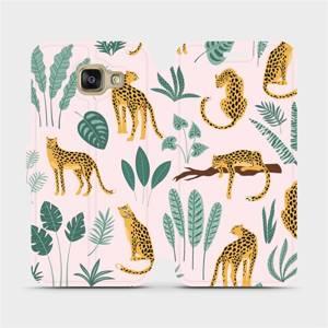 Flip pouzdro Mobiwear na mobil Samsung Galaxy A3 2016 - MP07S Leopardi