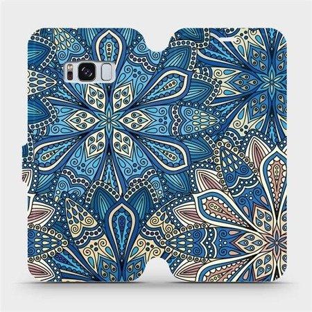 Flipové pouzdro Mobiwear na mobil Samsung Galaxy S8 - V108P Modré mandala květy
