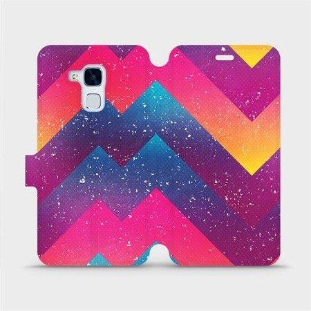 Flipové pouzdro Mobiwear na mobil Honor 7 Lite - V110S Barevné klikyháky