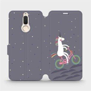 Flipové pouzdro Mobiwear na mobil Huawei Mate 10 Lite - V024P Jednorožec na kole