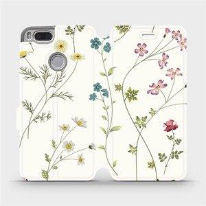 Flipové pouzdro Mobiwear na mobil Xiaomi Mi A1 - MD03S Tenké rostlinky s květy