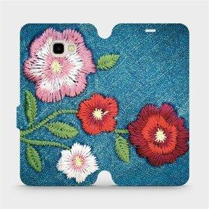 Flipové pouzdro Mobiwear na mobil Samsung Galaxy J4 Plus 2018 - MD05P Džínové květy
