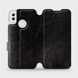 Flipové pouzdro Mobiwear na mobil Honor 10 Lite v provedení C_BLS Black&Gray s šedým vnitřkem
