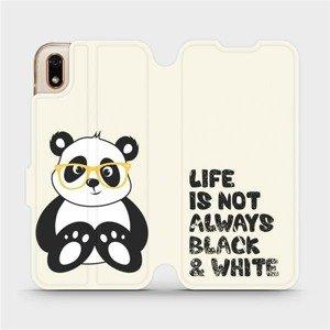 Flipové pouzdro Mobiwear na mobil Huawei Y5 2019 - M041S Panda - life is not always black and white