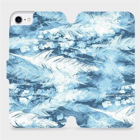 Flipové pouzdro Mobiwear na mobil Apple iPhone 8 - M058S Světle modrá horizontální pírka