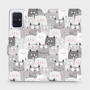 Flipové pouzdro Mobiwear na mobil Samsung Galaxy A71 - M099P Kočičky