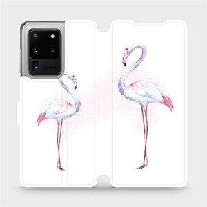 Flipové pouzdro Mobiwear na mobil Samsung Galaxy S20 Ultra - M005S Plameňáci
