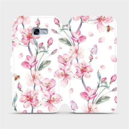 Flipové pouzdro Mobiwear na mobil Samsung Galaxy A3 2017 - M124S Růžové květy