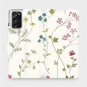 Flipové pouzdro Mobiwear na mobil Samsung Galaxy Note 20 - MD03S Tenké rostlinky s květy
