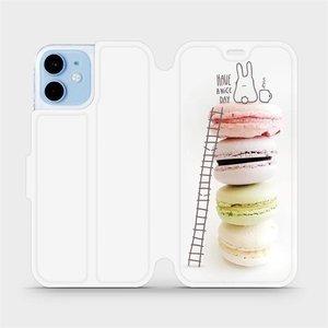 Flipové pouzdro Mobiwear na mobil Apple iPhone 12 mini - M090P Makronky - have a nice day