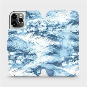 Flipové pouzdro Mobiwear na mobil Apple iPhone 12 Pro - M058S Světle modrá horizontální pírka