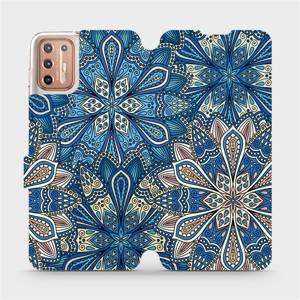 Flipové pouzdro Mobiwear na mobil Motorola Moto G9 Plus - V108P Modré mandala květy