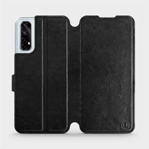 Flipové pouzdro Mobiwear na mobil Realme 7 v provedení C_BLS Black&Gray s šedým vnitřkem