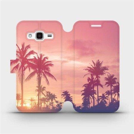 Flipové pouzdro Mobiwear na mobil Samsung Galaxy J3 2016 - M134P Palmy a růžová obloha
