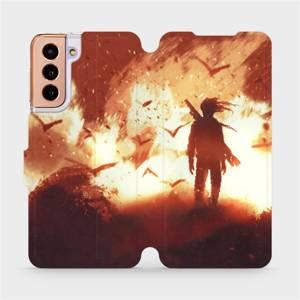 Flipové pouzdro Mobiwear na mobil Samsung Galaxy S21 5G - MA06S Postava v ohni