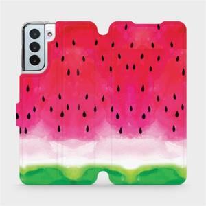 Flipové pouzdro Mobiwear na mobil Samsung Galaxy S21 Plus 5G - V086S Melounek