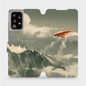 Flipové pouzdro Mobiwear na mobil Samsung Galaxy A52 5G / LTE - MA03P Oranžové letadlo v horách