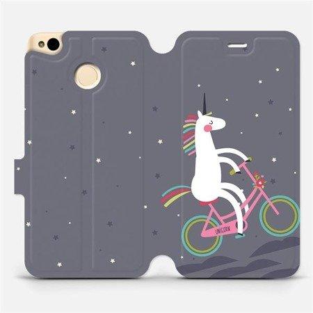Flipové pouzdro Mobiwear na mobil Xiaomi Redmi 4X - V024P Jednorožec na kole
