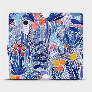 Flip pouzdro Mobiwear na mobil Xiaomi Redmi Note 4 Global - MP03P Modrá květena