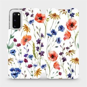 Flip pouzdro Mobiwear na mobil Samsung Galaxy S20 - MP04S Luční kvítí - výprodej