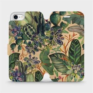Flip pouzdro Mobiwear na mobil Apple iPhone 7 - VP05S Sukulenty