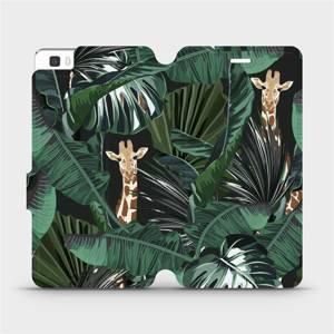 Flip pouzdro Mobiwear na mobil Huawei P8 Lite - VP06P Žirafky
