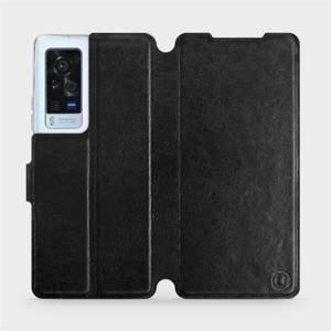 Flip pouzdro Mobiwear na mobil Vivo X60 Pro 5G v provedení C_BLS Black&Gray s šedým vnitřkem