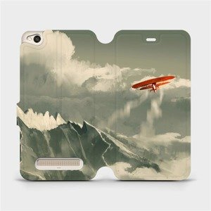 Flipové pouzdro Mobiwear na mobil Xiaomi Redmi 4A - MA03P Oranžové letadlo v horách