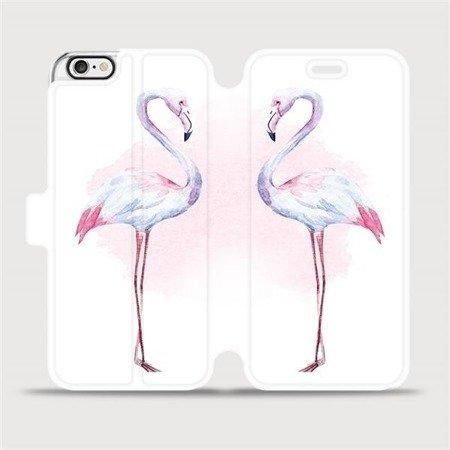 Flipové pouzdro Mobiwear na mobil Apple iPhone 6 / iPhone 6s - M005S Plameňáci