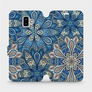 Flipové pouzdro Mobiwear na mobil Samsung Galaxy J6 Plus 2018 - V108P Modré mandala květy