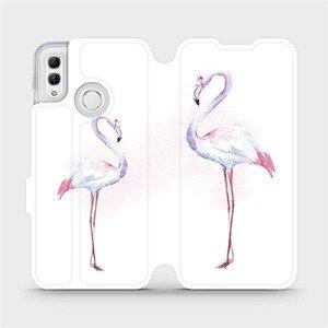 Flipové pouzdro Mobiwear na mobil Honor 10 Lite - M005S Plameňáci
