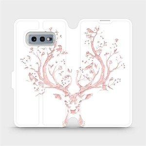 Flipové pouzdro Mobiwear na mobil Samsung Galaxy S10e - M007S Růžový jelínek