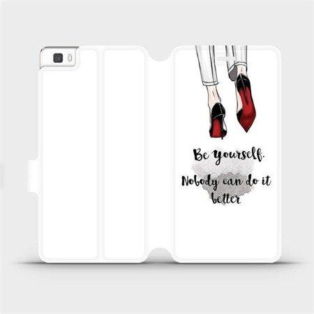 Flipové pouzdro Mobiwear na mobil Huawei P8 Lite - M046P Be yourself