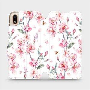 Flipové pouzdro Mobiwear na mobil Huawei Y5 2019 - M124S Růžové květy