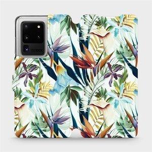 Flipové pouzdro Mobiwear na mobil Samsung Galaxy S20 Ultra - M071P Flóra